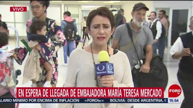 FOTO: 31 diciembre 2019, Alistan en AICM llegada de embajadora expulsada de Bolivia