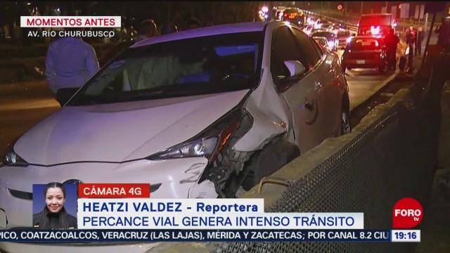 FOTO: Se registra intenso tránsito en Coyoacán por accidente, 8 diciembre 2019