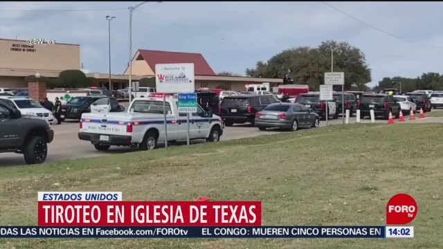 se registra tiroteo en iglesia de texas
