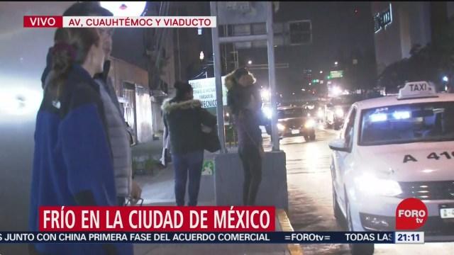 se registran bajas temperaturas en la ciudad de mexico