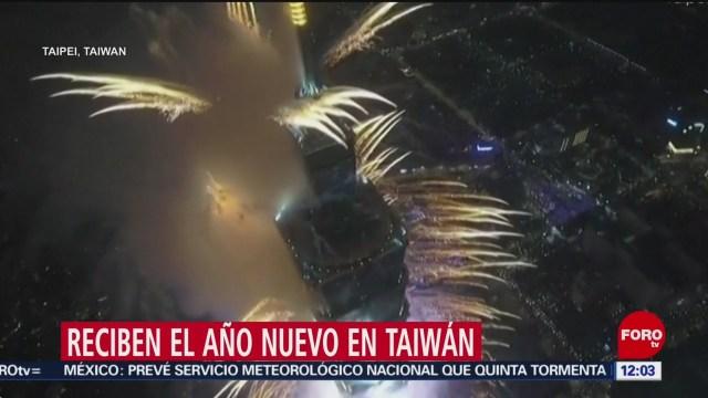 Foto: taiwan recibe el 2020 con luz y color