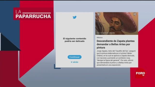 Foto: Obra Zapata Twitter Clasifica Contenido Delicado 12 Diciembre 2019