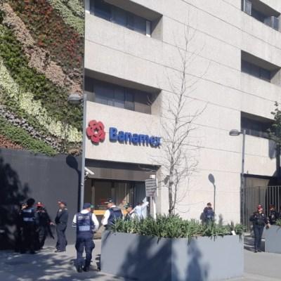 Detienen a un sujeto por asalto a banco en avenida Balderas, CDMX