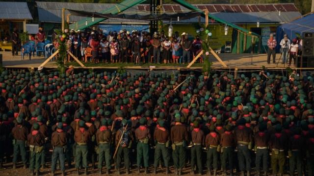 Foto: EZLN anuncia que no permitirá construcción de Tren Maya, 1 de enero de 2020, MOISÉS PABLO /CUARTOSCURO.COM