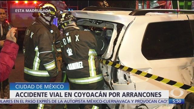 Foto: accidente vial por arrancones