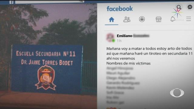 Foto: Alumno Secundaria Monterrey Amenaza Broma Tiroteo 14 Enero 2020