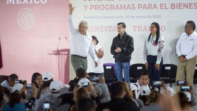 Foto: El presidente Andrés Manuel López Obrador asistió a la Macroplaza, 26 enero 2020