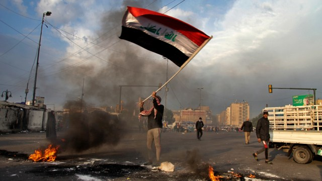 Foto: Impacta cohete cerca de base iraquí con presencia de EEUU , 09 de enero de 2020, (AP, archivo)