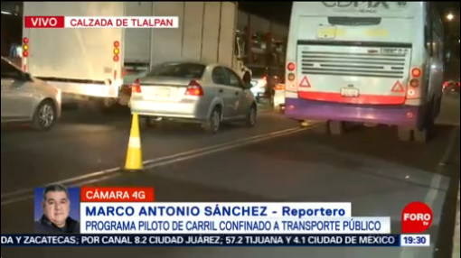 Foto: Carril Confinado Transporte Público Tlalpan Programa Piloto 23 Enero 2020