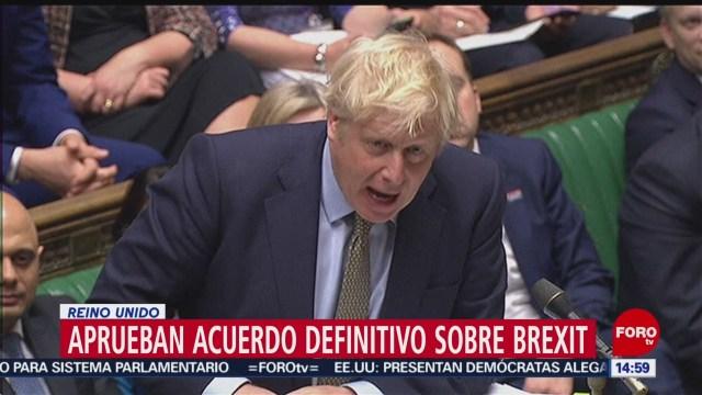FOTO: aprueban definitivamente el brexit en el parlamento del reino unido