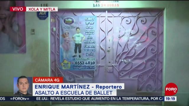 Foto: Asalto Escuela Ballet Colonia Narvarte CDMX Hoy 13 Enero 2020