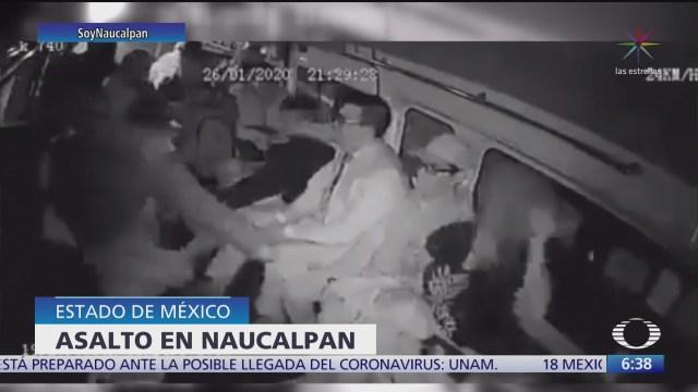 asaltantes se hacen pasar por pasajeros en combi de naucalpan