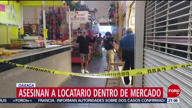 FOTO: 26 enero 2020, asesinan a locatario del mercado la merced en oaxaca