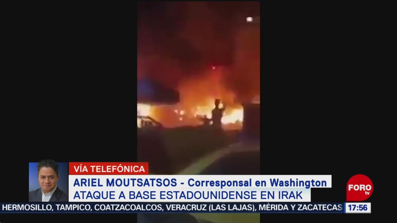 FOTO: ataque contra base aerea estadounidense en irak es en represalia