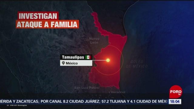 FOTO: 5 enero 2020, autoridades investigan ataque contra familia en carretera reynosa nuevo laredo