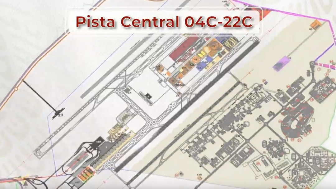 IMAGEN Avances en la construcción del aeropuerto de Santa Lucía (YouTube)