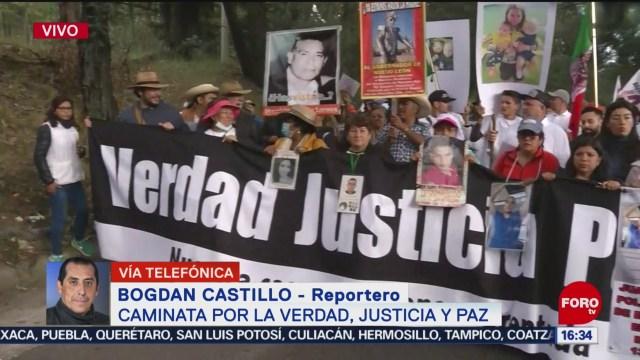 avanza caminata por la verdad justicia y paz en la cdmx