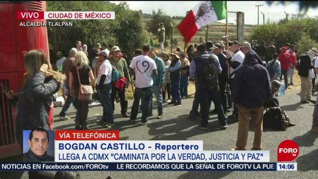 FOTO: caminata por la verdad la justicia y la paz llega a cdmx