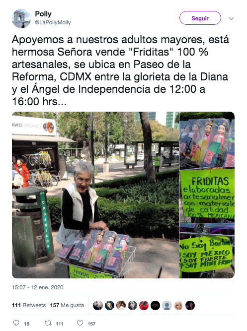 Friditas: muñecas de Frida Kahlo que vende una abuelita en CDMX