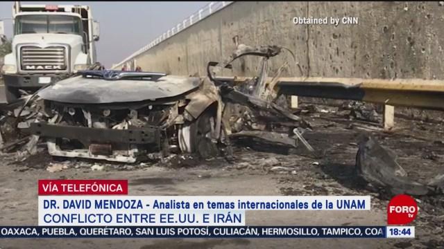FOTO: 3 enero 2020, como afecta a mexico los ataques de eeuu a iran