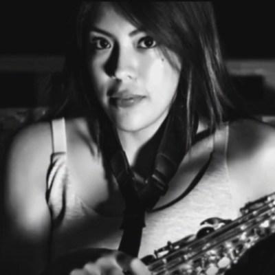 Foto: Saxofonista María Elena Ríos.