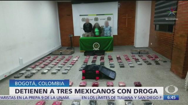 detienen a mexicanos con droga en colombia