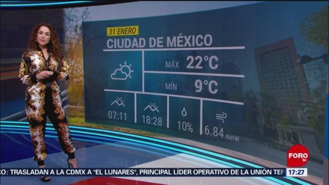 FOTO: clima con mayte carranco del 31 de enero de