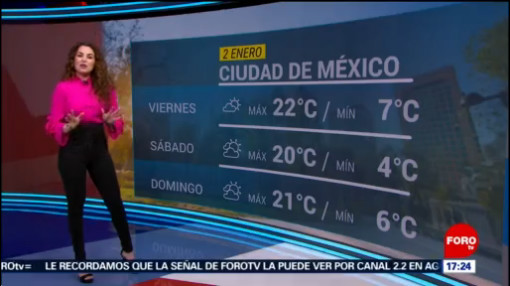 FOTO: 2 enero 2020, el clima de la tarde del 2 de enero del 2020 con mayte carranco