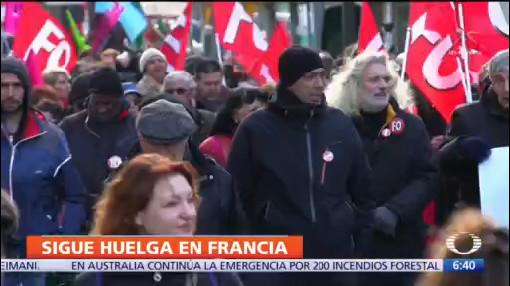 en francia siguen protestas contra reforma de pensiones