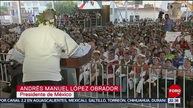 FOTO: 5 enero 2020, evento de lopez obrador en huayacocotla y texcoco