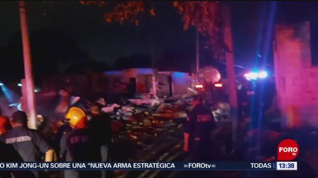 FOTO: explosion en vivienda donde almacenaban polvora en yucatan