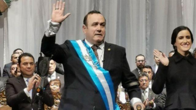 Foto: Alejandro Giammatei, nuevo presidente de Guatemala.