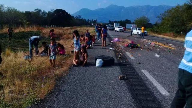 Foto: El grupo de personas iba hacia Ojo de Agua, un balneario ubicado en el Istmo de Tehuantepec. Twitter/