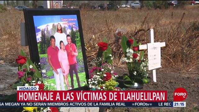 FOTO: 18 enero 2020, homenajean a fallecidos tras explosion en tlahuelilpan