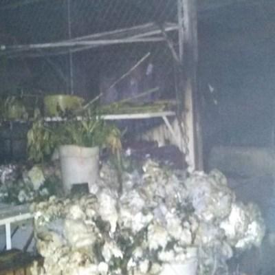 Incendio consume el Mercado de las Flores en Xochimilco