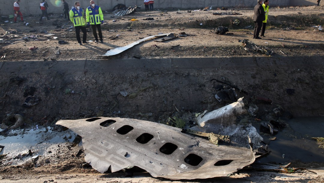 Foto: Irán niega que uno de sus misiles haya impactado a avión ucraniano