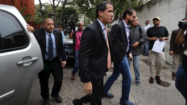 """FOTO: Guaidó asegura que """"va a sacar a la dictadura"""" y que Venezuela está unida, el 01 de febrero de 2020"""