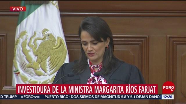 margarita rios farjat asume como ministra de la suprema corte