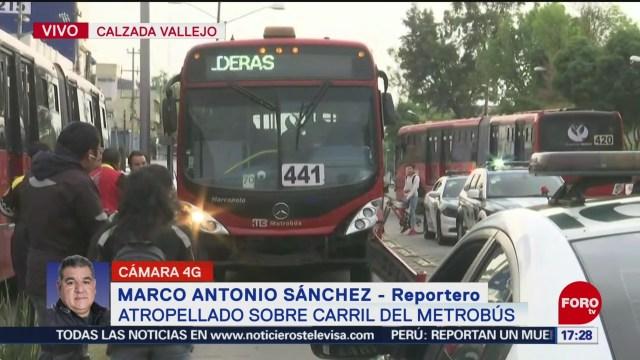 metrobus atropella y mata a ciclista en vallejo