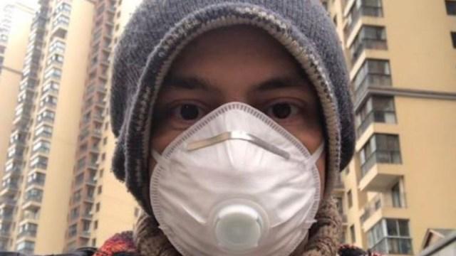Foto: Jesús Daniel Stamatis Portugal, un arquitecto mexicano que vive en Wuhan, pidió ayuda para salir de China, 26 enero 2020