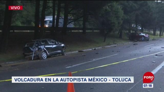 muere una persona tras choque en la autopista mexico toluca