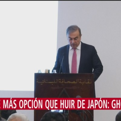 No tuve más que huir de Japón, dice Ghosn