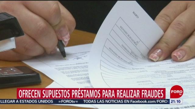 Foto: Fraudes Ofrecen Préstamos 16 Enero 2020