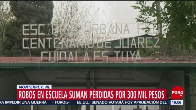 Foto: Robos Primaria Monterrey 16 Enero 2020