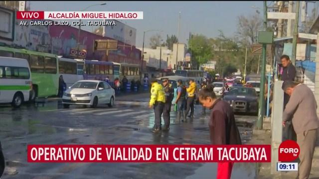 operativo de vialidad en cetram tacubaya