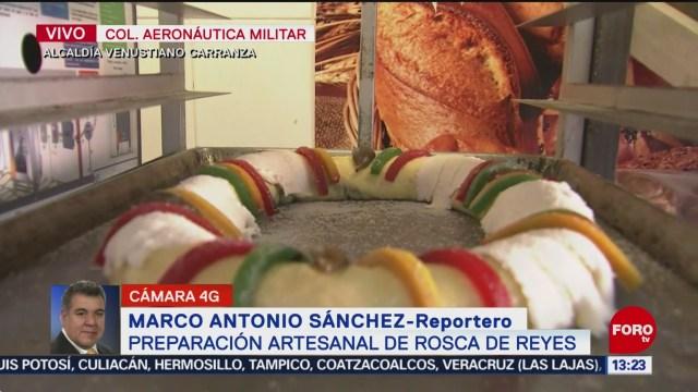 FOTO: preparacion artesanal de rosca de reyes en venustiano carranza , 4 de enero del 2020