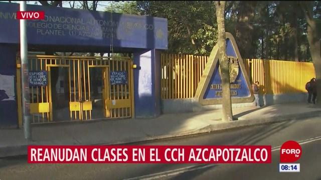 reanudan clases en el cch azcapotzalco