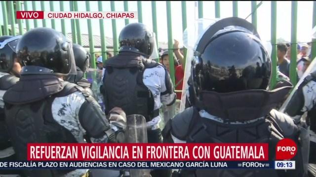 FOTO: 18 enero 2020, refuerzan vigilancia en frontera mexico con guatemala