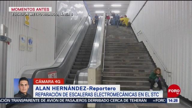 FOTO: reparan escaleras electricas del metro