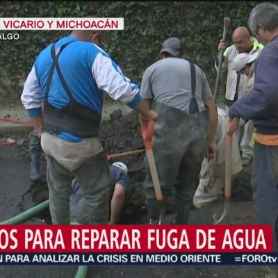 Reparan fuga de agua en Tlalpan